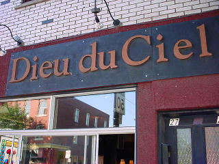 Dieu du Ciel sign