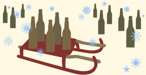 Beers on a sled