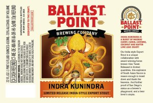 I had my doubts, but like all things Ballast Point, this one's great. Also, I dig the use of the octopus to represent a many-armed Hindu God. Unless that's offensive, in which case I denounce it.